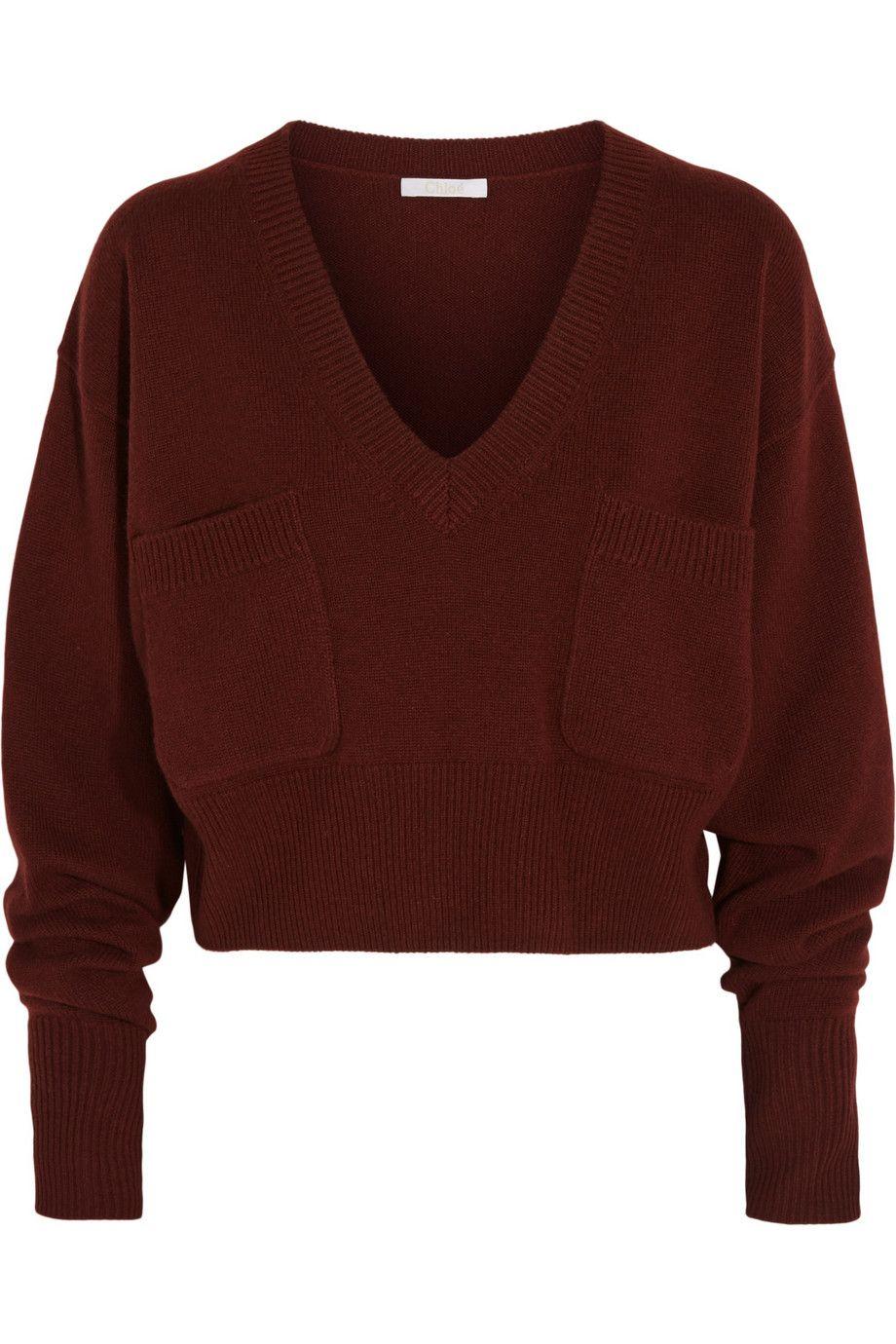 Chloé | Cropped cashmere sweater | NET-A-PORTER.COM | Knitwear ...