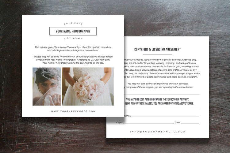 Print Release Templates Photo Marketing Copyright