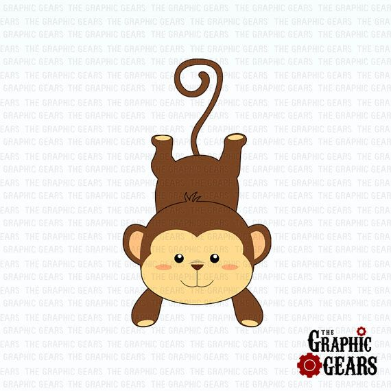 monkey clip art cute baby monkey clip art by graphicgears 2 00 rh pinterest com baby monkey clipart baby monkey clip art free