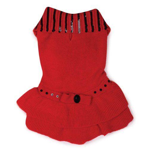 Scarlet Knit Dog Dress in Red >>> Startling review