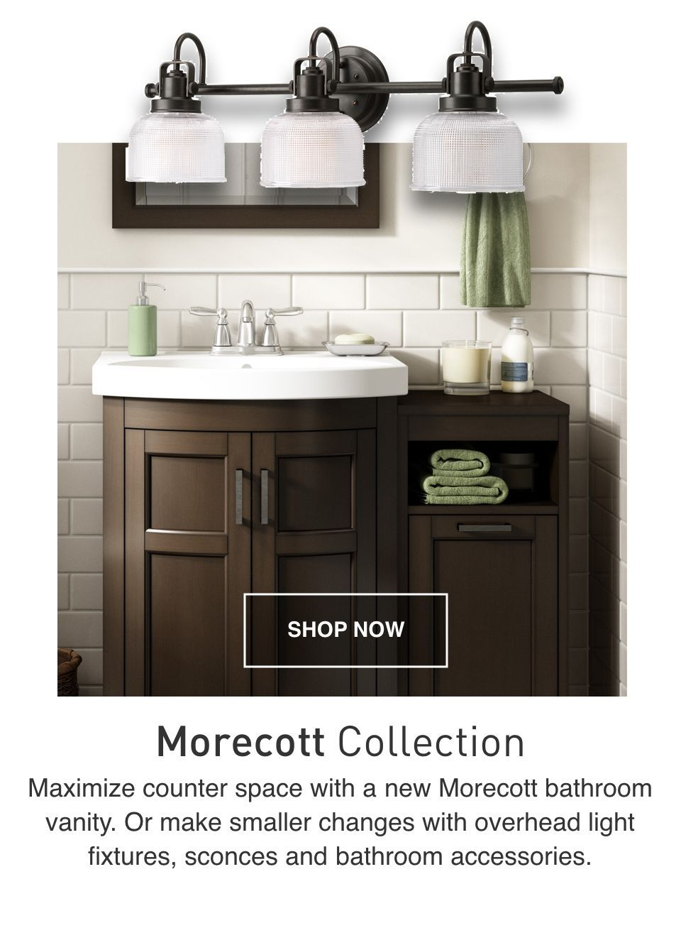 The Morecott Bathroom Vanity Maximizes Counter Space Bathroom Sink Cabinets Bathroom Vanity Powder Room Sink Vanity