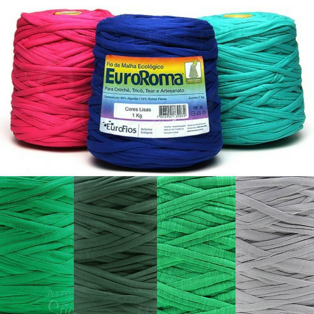 Chegaram novas cores do fio de malha EuroRoma. São ótimos para produzir tapetes, acessórios e cortinas decorativas. Acesse o www.armarinhosaojose.com.br e confira!  #armarinho #euroroma #artesanato #fiodemalha #artemanual