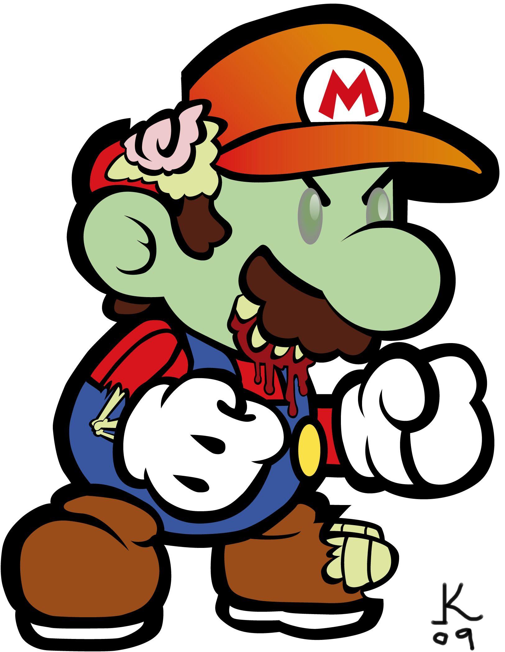 Zombie Mario | Zombie | Pinterest | Zombie cartoon ...