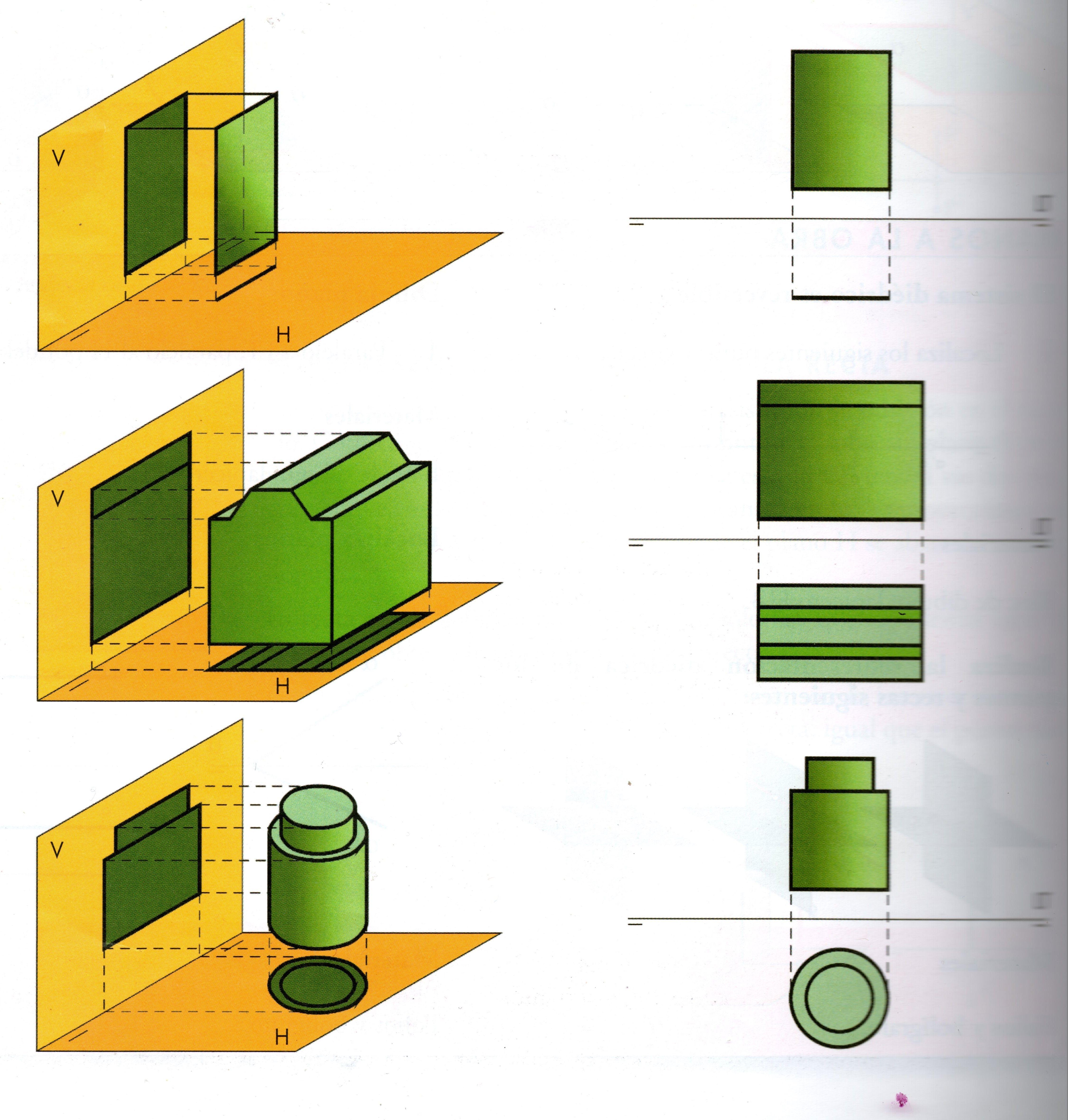 Lamina 3 Representa En El Sistema De Proyeccion Ortogonal Los Volumenes Que Dibujaste En La Lam Proyecciones Ortogonales Dibujos 3d A Lapiz Tecnicas De Dibujo