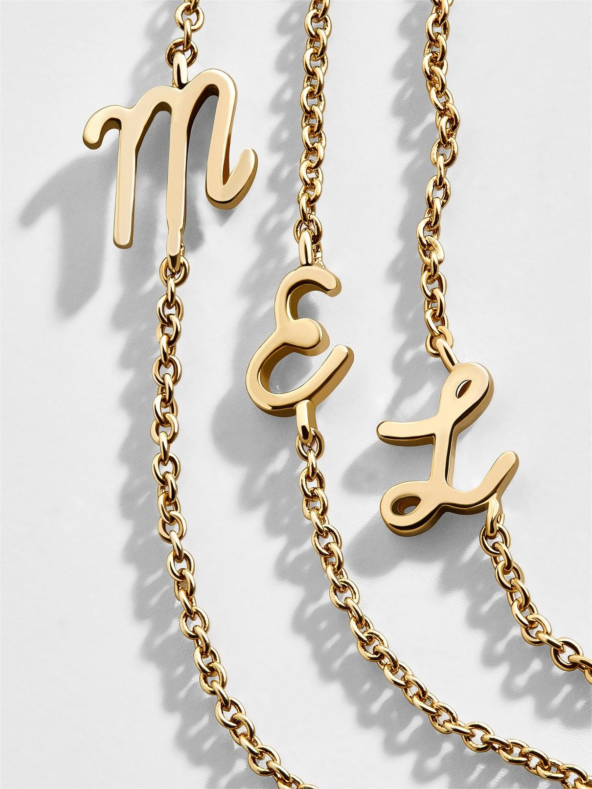 1945fddfe A delicate chain features an itty bitty initial for a chic dose of  personality. Trust
