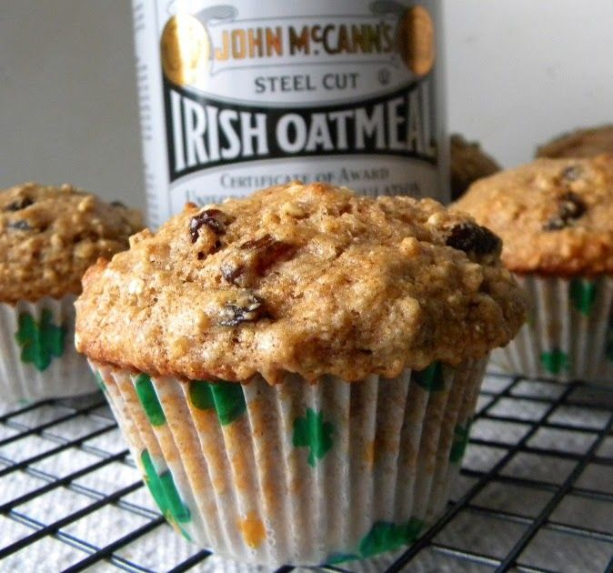 Irish Oatmeal Cookie Muffins For St Patrick S Day From Cleo Coyle Irish Oatmeal Irish Recipes Oatmeal Recipes