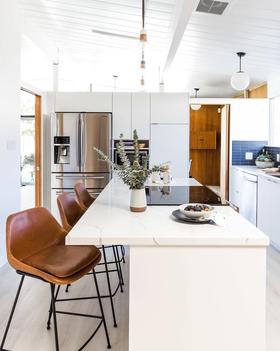 Dwell On Instagram In San Jose California Interior Designer Cathie Hong Opens Up A Dim Confined Kitchen 1963 Eichler For 48 920