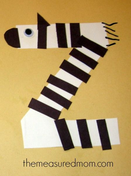Crafts For Letter Z Kids Projects Letter Z Crafts Preschool