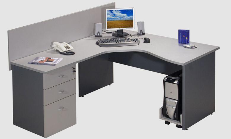 Escritorio en l moderno buscar con google oficina - Escritorios de madera para oficina ...