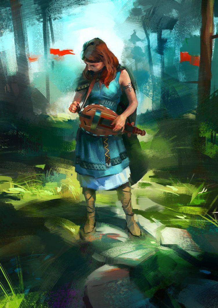 by Skvor. (O la chica está disfrazada o hay un anacronismo: en esos ...