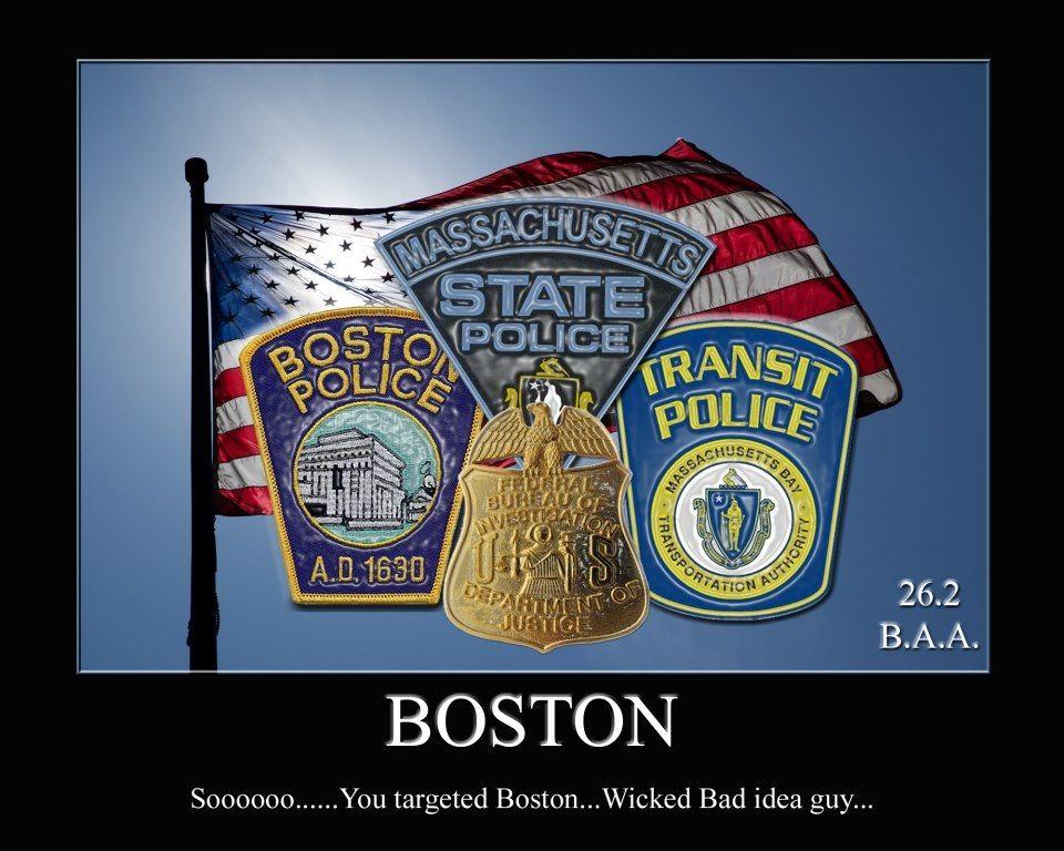 Boston Police State Police And Transit Police Seals Boston Strong Boston Police Department Boston Bombing