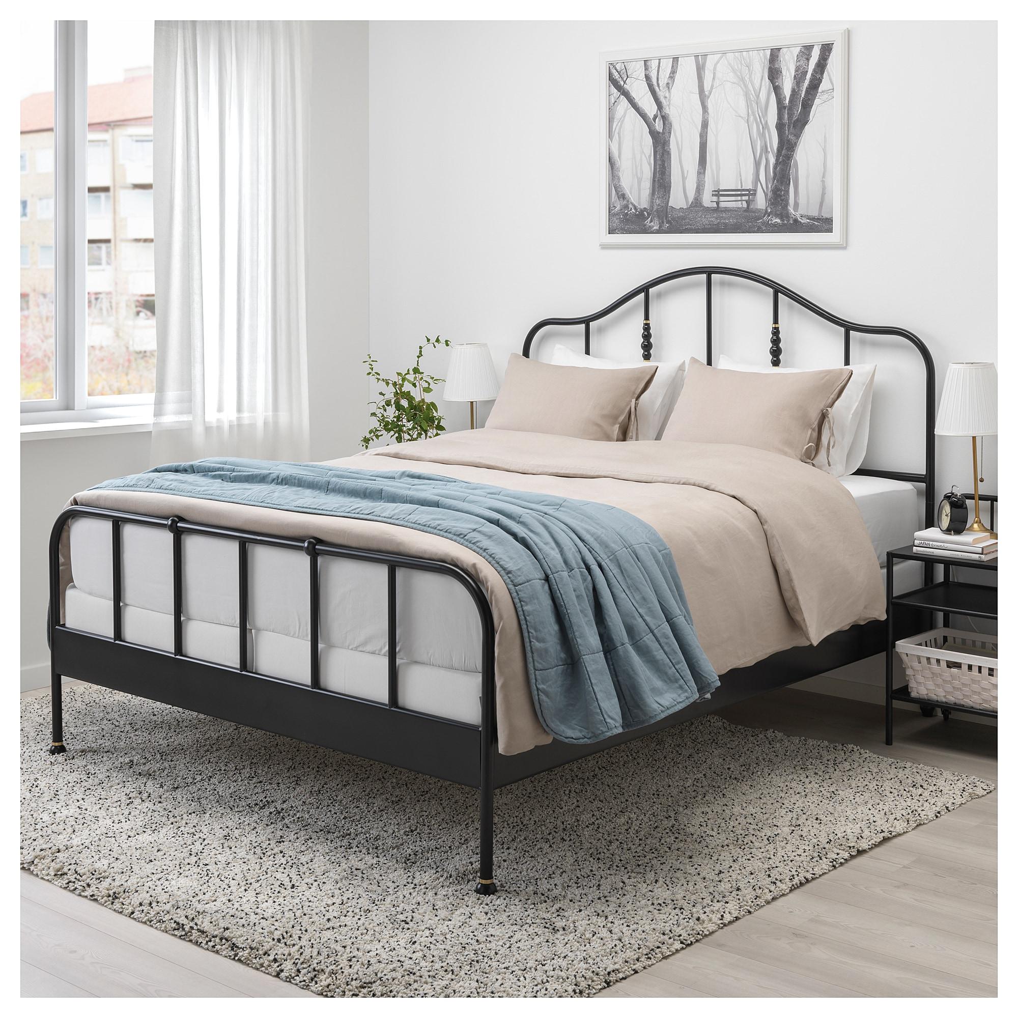 Sagstua Bed Frame Black Eidfjord Queen Bed Frame Double Bed Frame Comfort Mattress