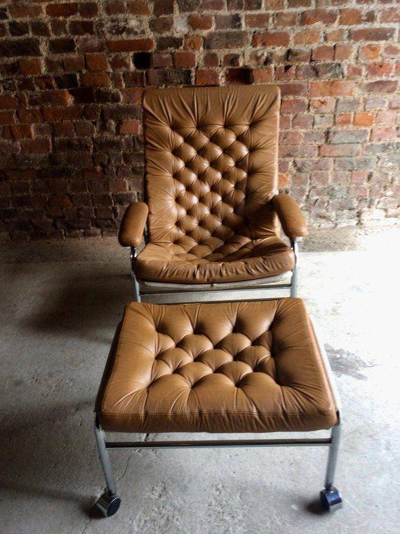 Surprising Rare Noboru Nakamura For Ikea Bore Lounge Chair Footstool Machost Co Dining Chair Design Ideas Machostcouk
