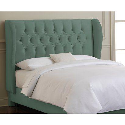 Carribean Brompton Wingback Headboard. | Upholstered bed | Pinterest
