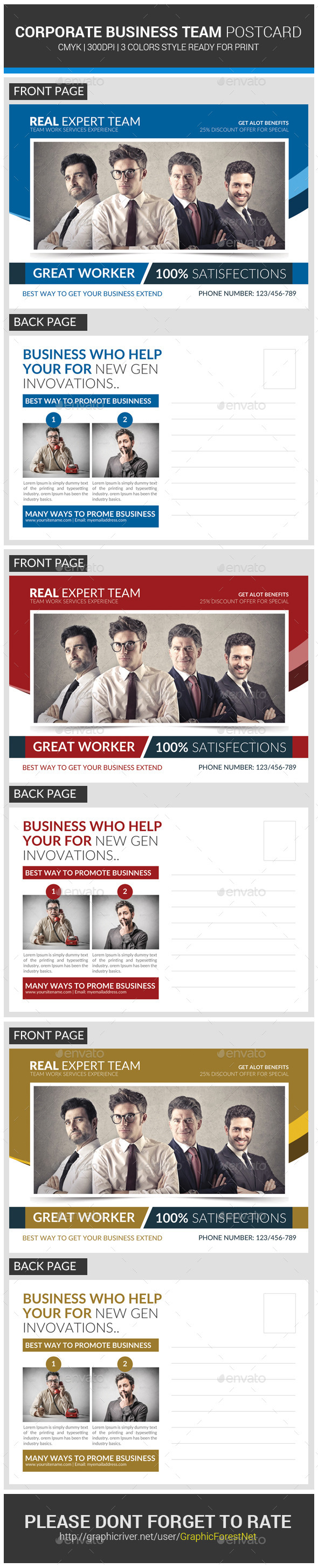 Agency Corporate Business Postcard Template Photoshop PSD Export Courier O Available Here