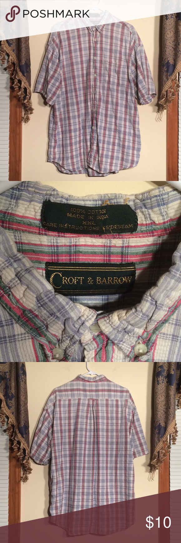 Croft Barrow Xxl Men S Shirt With Images Shirts Casual