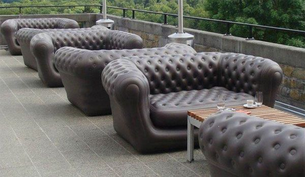 Inflatable Loveseat Or A Chesterfield Style Sofa Inflatable