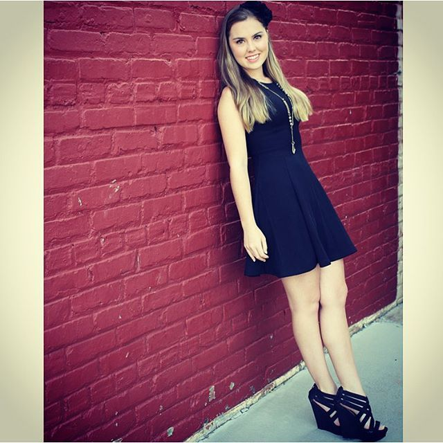 It all started with a simple black dress... #ootd #style #black #headband #brickwall