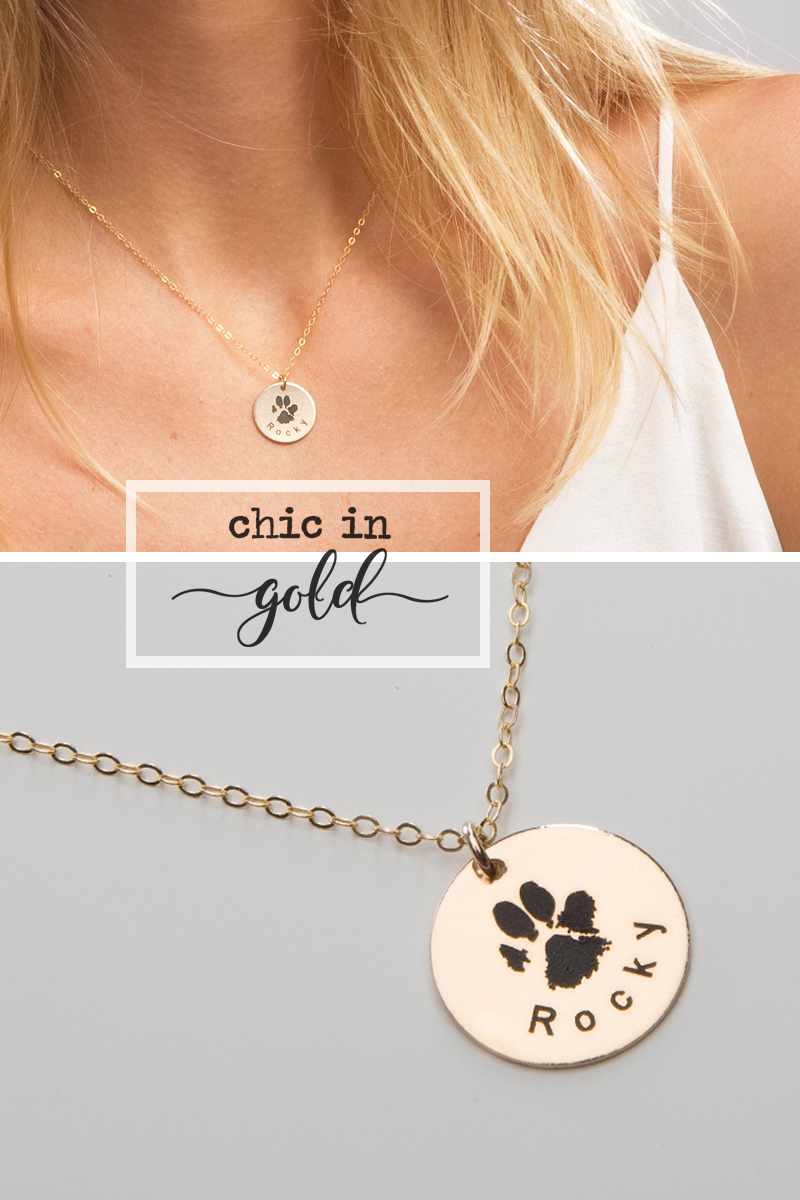 Actual Dog Cat Paw Nose Print Necklace-Personalized Pet Jewelry-Engraved Name-Memorial Loss-Pet Lover-Animal Adoption-Christmas-CG363N_58