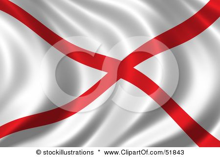 Wavy Alabama State Flag State Flags Alabama State Clip Art