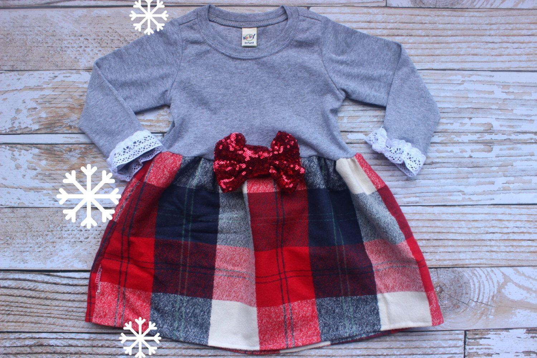 Girls Christmas Dress, Baby Girls Christmas Outfit, Christmas Set, My first Christmas, Newborn baby christmas by NylaMarieKids on Etsy https://www.etsy.com/listing/256573755/girls-christmas-dress-baby-girls