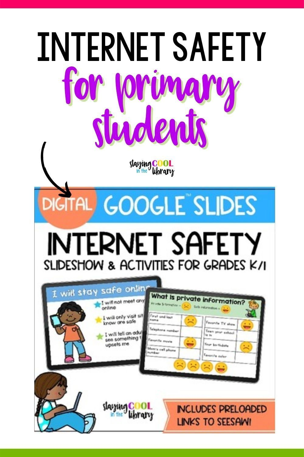 Safety for Primary Students Google Slides