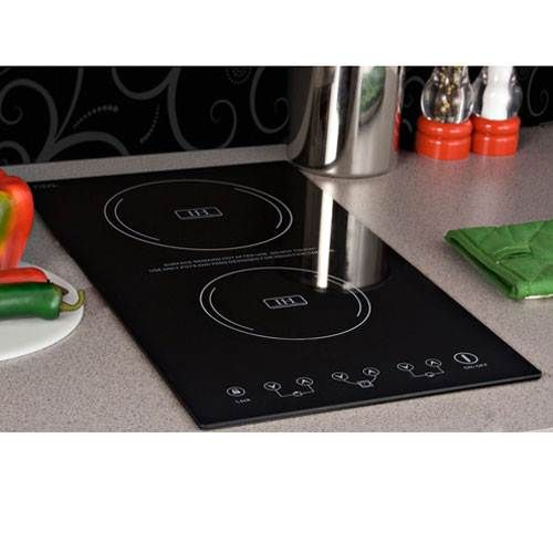 Smt Sinc2220 Summit Two Zone Built In Induction Cooktop Tiny House Appliances Tiny House Furniture Induction Cooktop