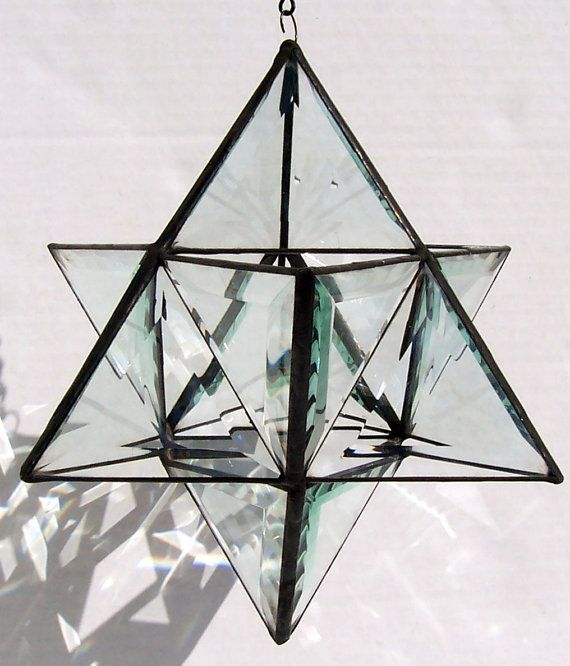 Beveled Glass Origami Stained Glass Star Of By Suncatchercreations