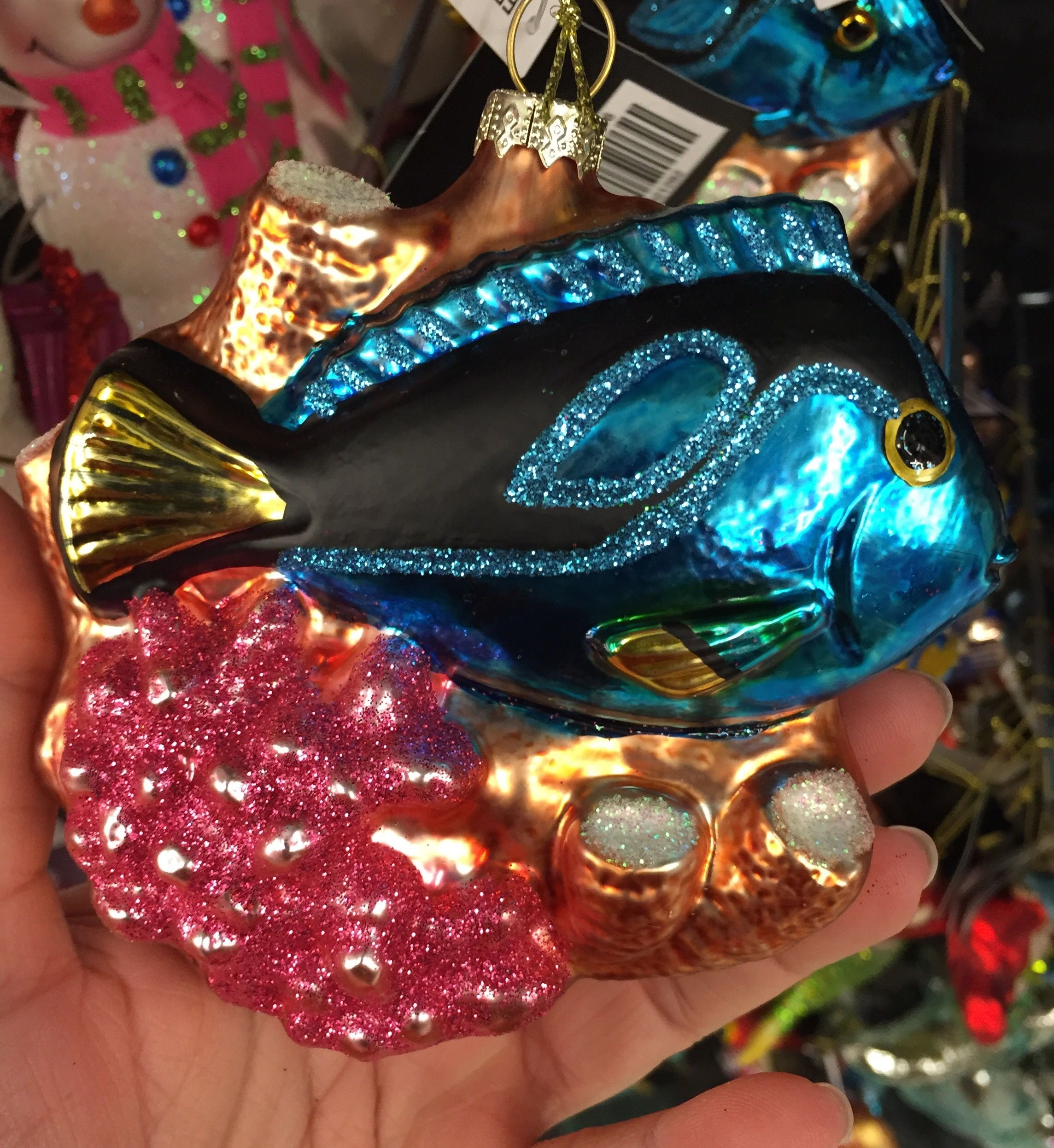 Hobby lobby glass ornaments - Robert Stanley Home Collection Glass Tropical Fish And Coral Ornament 9 99 At Hobby Lobby