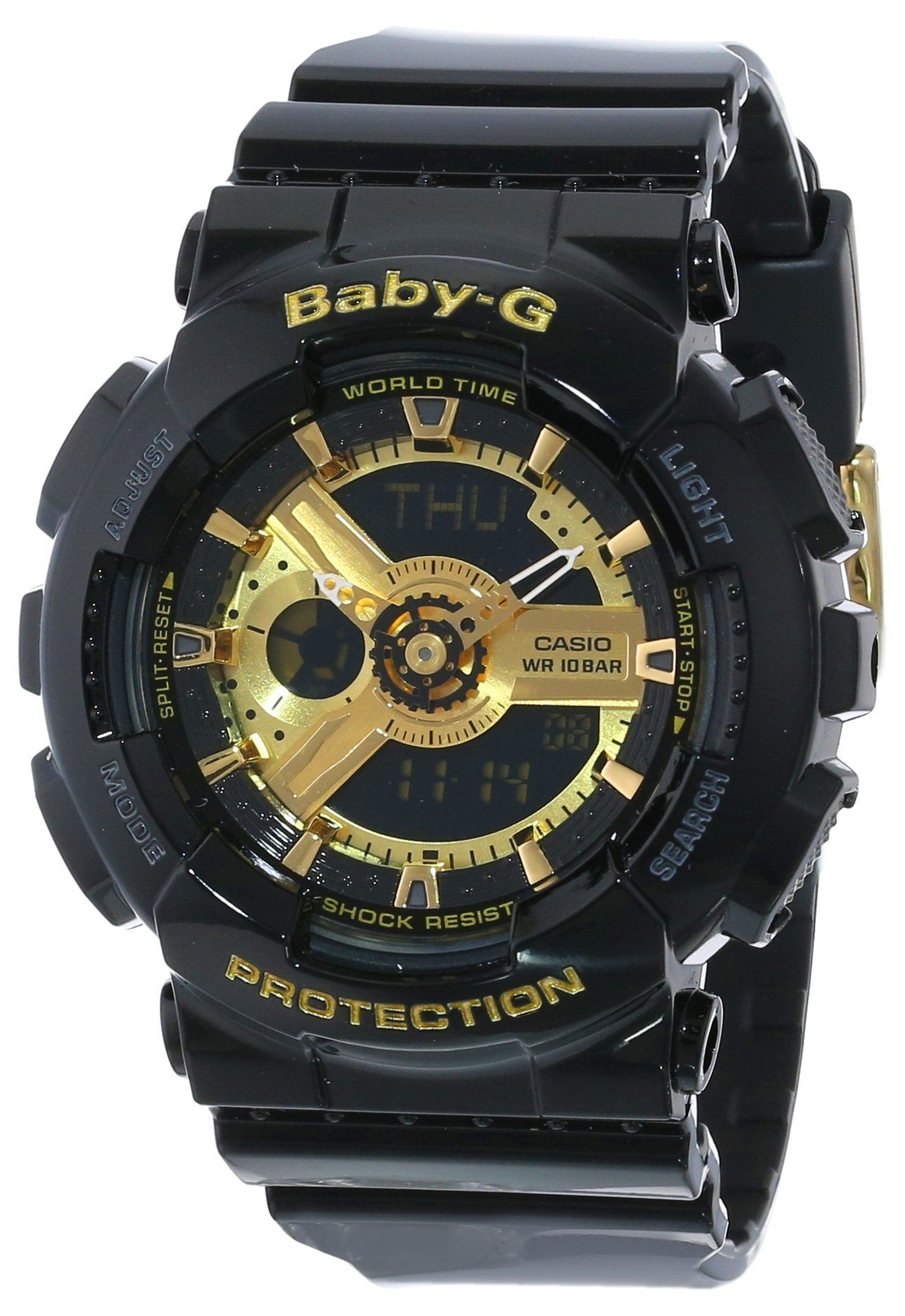 Amazon.com: Casio Women's BA-110-1ACR Baby-G Goldtone Analog-Digital Display and Black Resin Strap Watch: Casio: Watches https://www.youtube.com/watch?v=Bbwd8uC6LfU