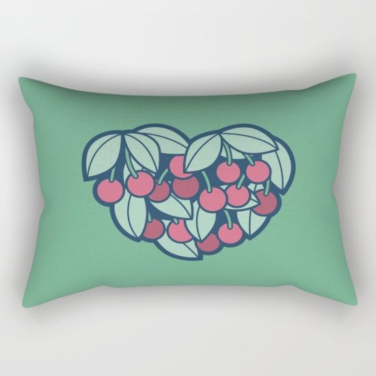 Accent Wall Color Picker: Heart Of A Cherry Picker Rectangular Pillow