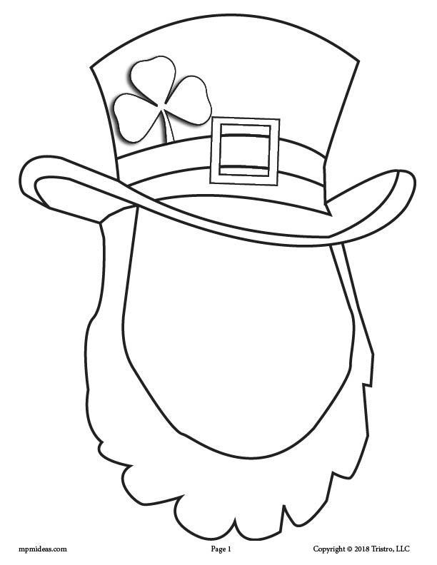 Printable St. Patrick's Day Leprechaun Face Drawing Activity!