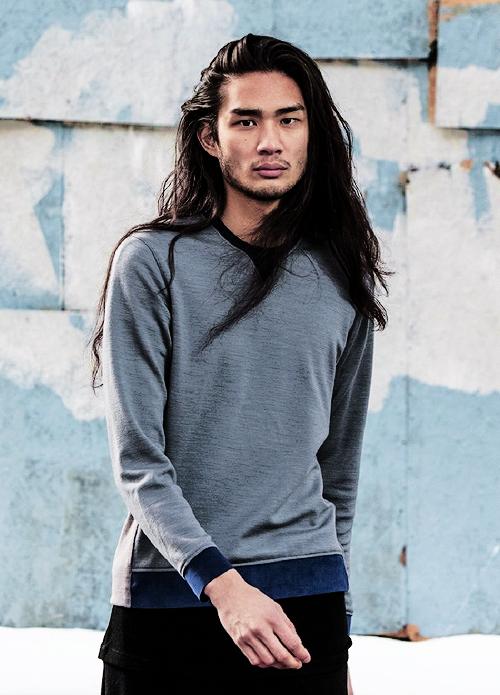 Alexander Dominguez   Asian men hairstyle, Long hair styles men, Asian men long hair