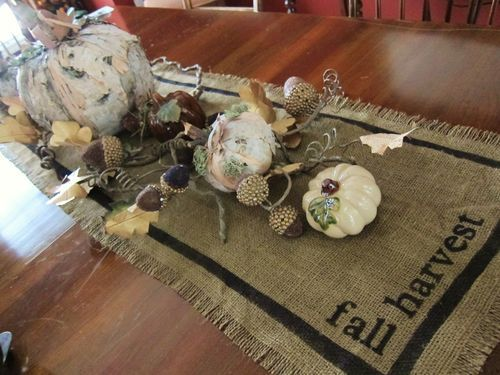 Amazing Burlap Table Runner   Painted It With Gratitude, Bountiful, Family, Friends  And Harvest