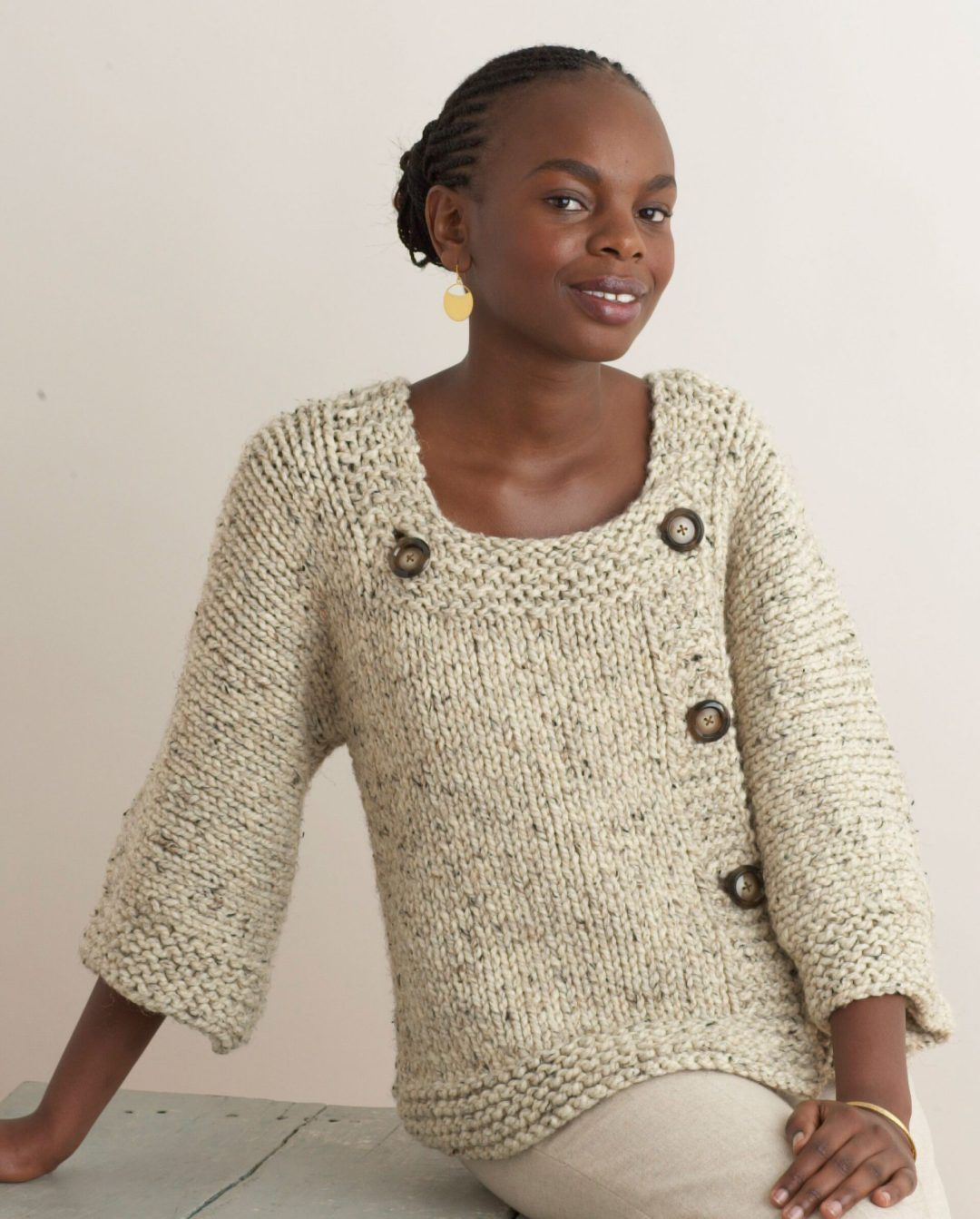 Free knitting pattern for Extra Easy Extra Fabulous Sweater ...