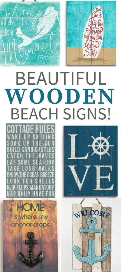Wooden Beach Signs Decor Brilliant Best Wooden Beach Signs  Beachfront Decor  Wood Walls Wall Decorating Inspiration