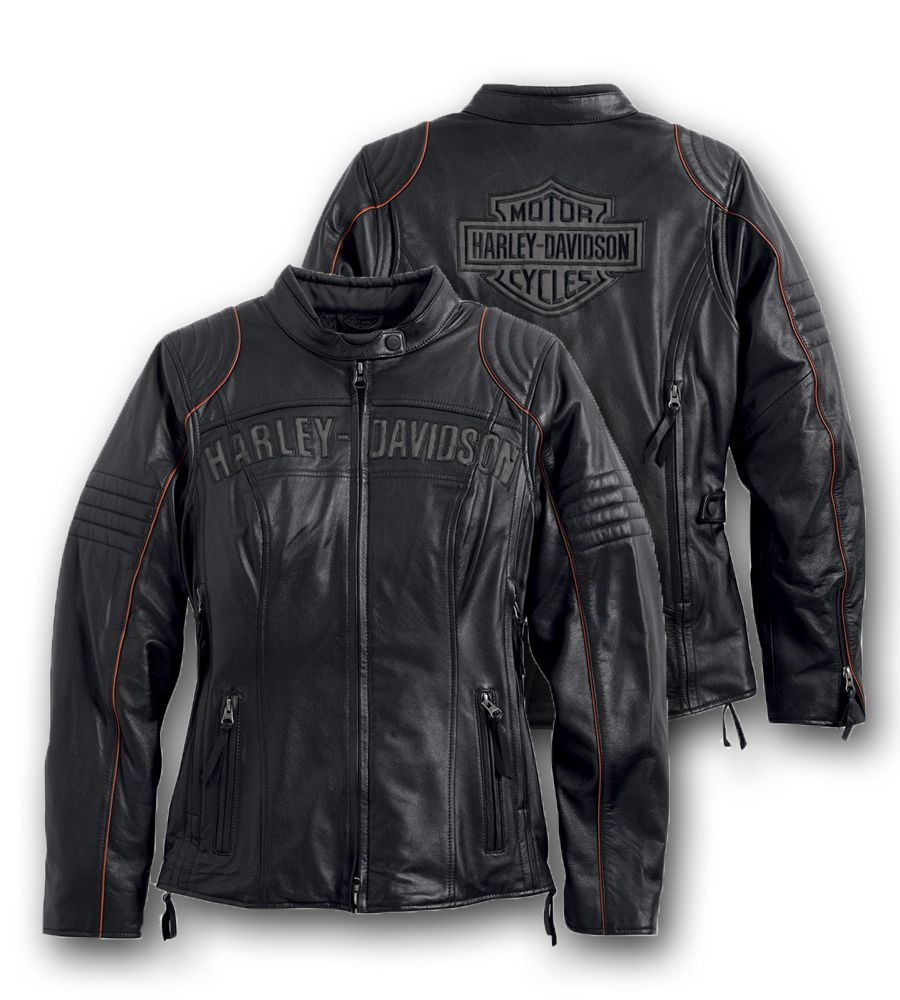 Harley Davidson Women S Eclipse Waterproof Leather Jacket With