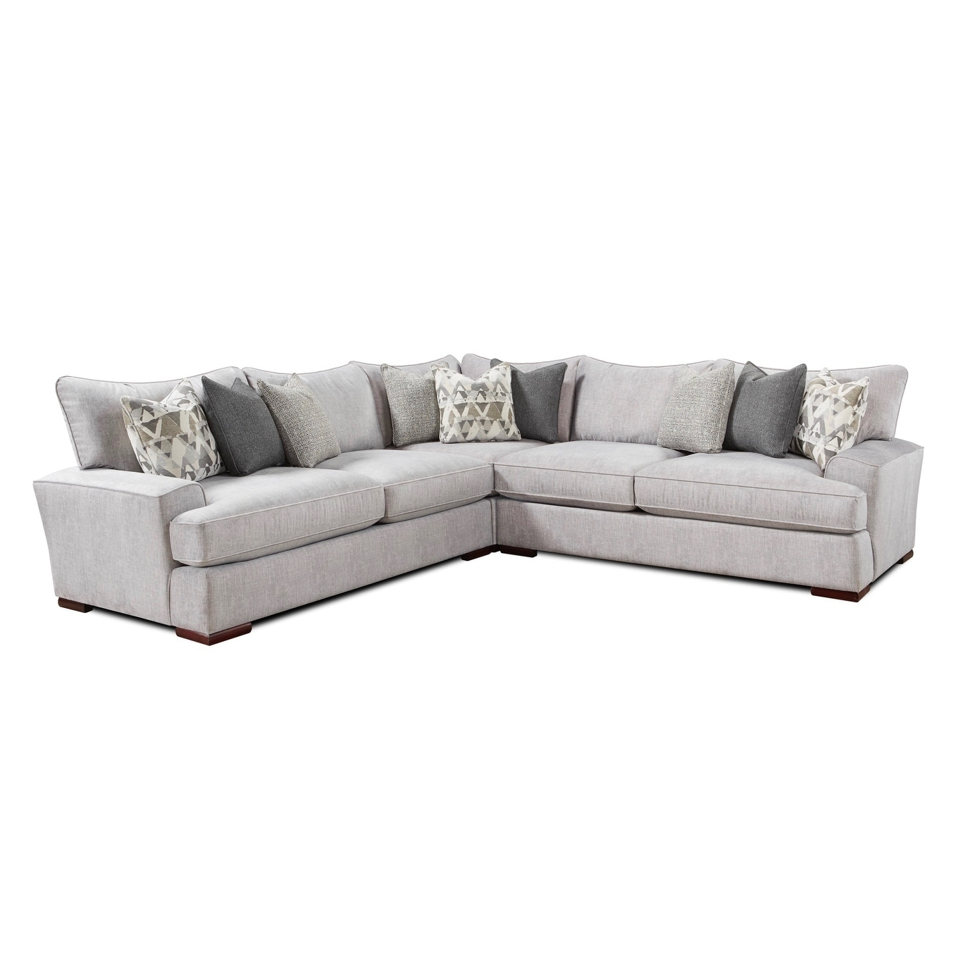 Alton Silver Sectional Sofa Gray Sectional Sofa Sectional Furniture