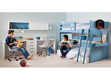 Chambre Ado Avec Lit Mezzanine Design Et Bureau Double Design Sur