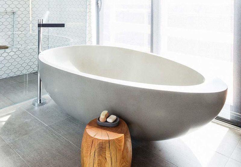 Egg Shaped Stone Bath Via The Block