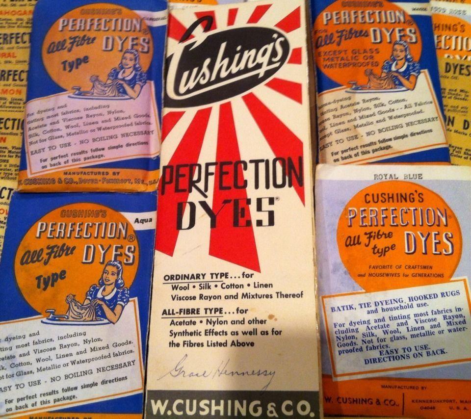 60 Packs Vintage Cushing S Perfection Dye Orig Color Chart Pamphlet Rug Hook Cushings