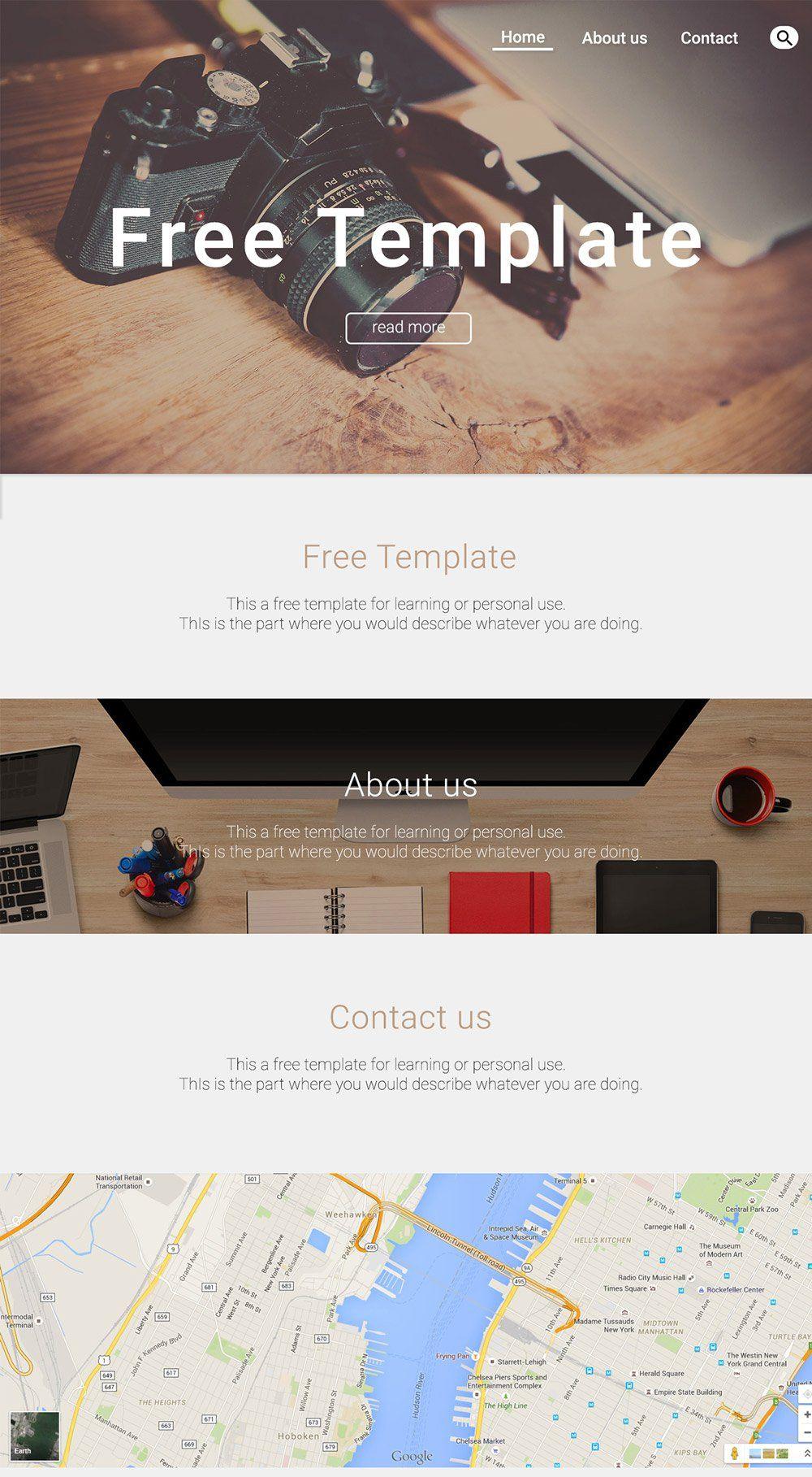 Free Portfolio Website Templates (PSD
