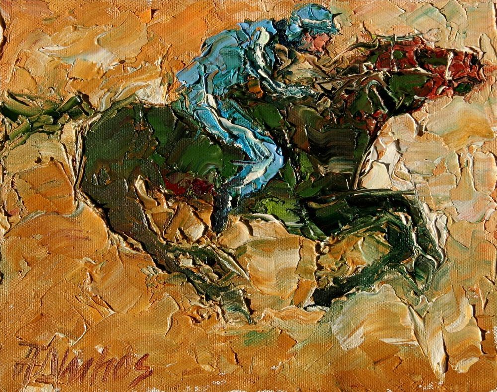 Horse Racing Equine THOROUGHBRED equestrian ltd edition Art PRINT Andre Dluhos