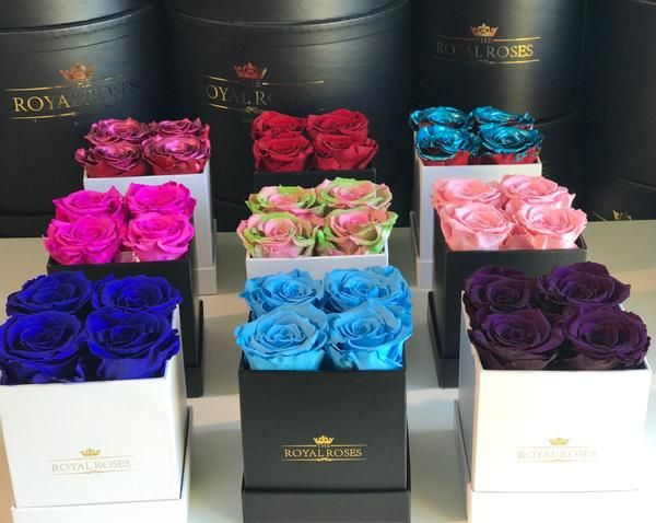 Mini Square Long Lasting Rose Box Lifetime Is Over 1 Year Rose Flower Box Gift Preserved Roses