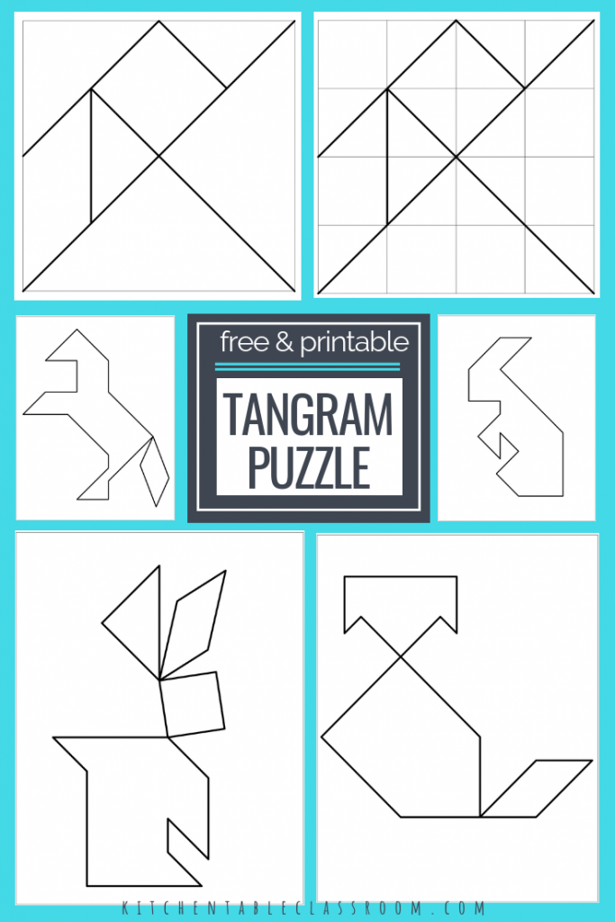 image about Printable Tangram referred to as Printable Tangrams - An Very simple Do it yourself Tangram Template Artwork for