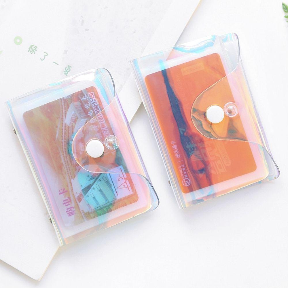 Fashion Laser Transparent Pvc 20 Bits Card Case Business Card Holder Credit Passport Card Cover Id Passport Card Www Kevelostore Com Wallet Organization Card Holder Case Passport Card