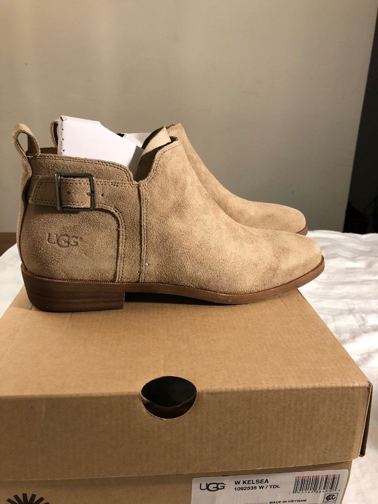 d46bd4f8772ae UGG Kelsea Suede Ankle Booties 1092535 Tideline New SZ 9.5 100% Authentic  #fashion #clothing #shoes #accessories #womensshoes #boots (ebay link)