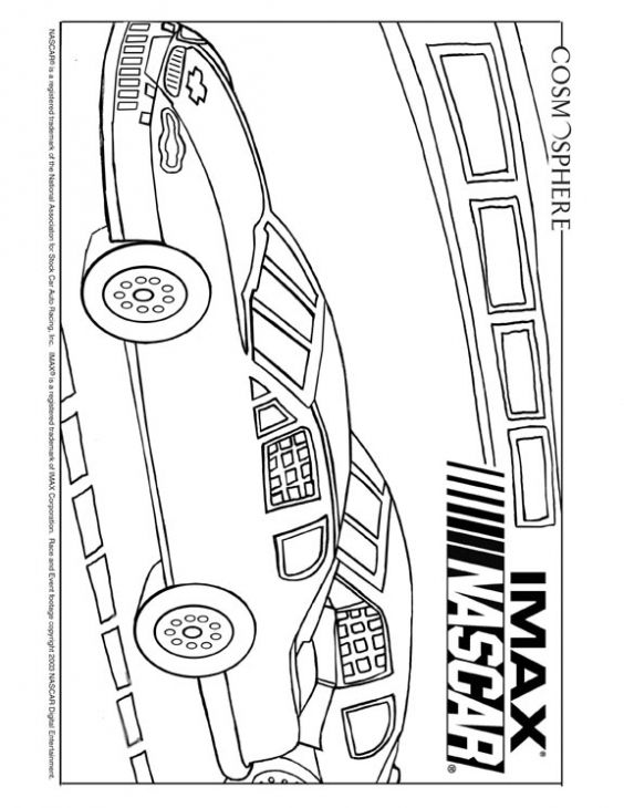 nascar coloring sheet - Nascar Coloring Pages