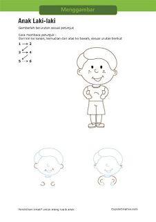 Aktivitas Kerajinan Anak Sd Petunjuk Langkah Menggambar Anak Laki