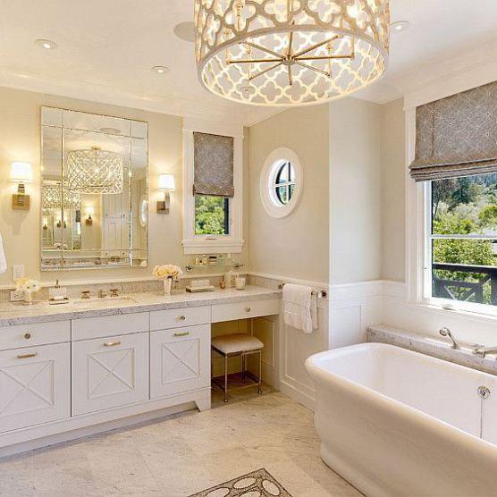 18 Stunning Master Bathroom Lighting Ideas: Benjamin Moore Brandy Cream - Google Search …